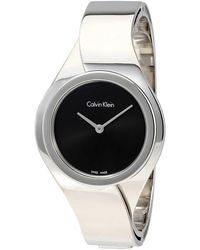 Calvin Klein Senses Black Dial Ladies Watch