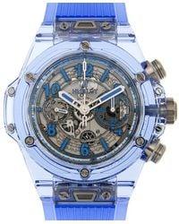 Hublot Big Bang Unico Chronograph Automatic Mens Watch - Blue