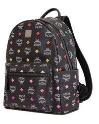 MCM Ladies Skyoptic Visetos Backpack - Black