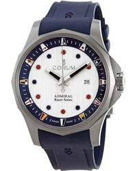 Corum Admiral's Cup Racer Automatic White Dial Mens Watch - Blue