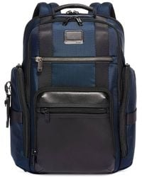 Tumi Mens Navy Sheppard Deluxe Brief Pack - Blue