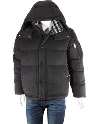 Burberry Detachable Hood Cashmere Down-filled Jacket, Brand - Black