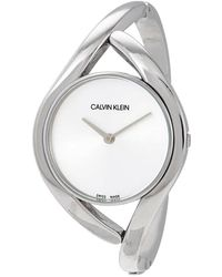 Calvin Klein S Analogue Quartz Watch With Stainless Steel Strap K8u2m111 - Metallic