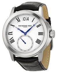 Raymond Weil Tradition Big Date Mens Watch -stc-00300 - Metallic