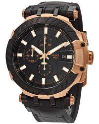 Tissot T-race Motogp Chronograph Automatic Black Dial Mens Watch T1154273705101 - Multicolour