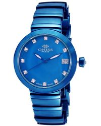Oniss On5559ss Quartz Blue Dial Ladies Watch