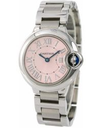 Cartier Pre-owned Ballon Bleu Pink Dial Stainless Steel Ladies Watch - Multicolor