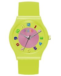 Crayo Jubilee Yellow Dial Yellow Leatherette Watch
