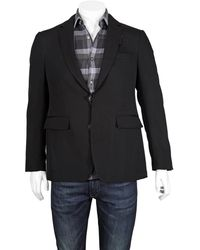 Burberry Mens Black Wool Tailored Blazer