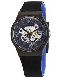 Swatch Blueboost Quartz Unisex Watch - Black