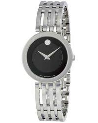 Movado Esperanza Matte Black Museum Dial Ladies Watch - Metallic