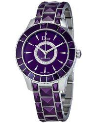 Dior Christal Automatic Ladies Watch - Purple
