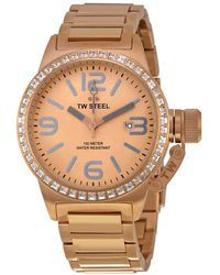 TW Steel Canteen Rose Sunray Dial Rose Gold-plated Steel Mens Watch - Metallic