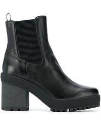 Hogan Block Heel H475 Ankle Boots, Brand - Black