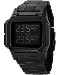 Nixon Regulus Chronograph Quartz Digital Mens Watch -00 - Black