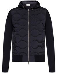 Moncler Quilted Lined Sweater - Blue