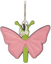 Loewe Pink/greem Butterfly Charm