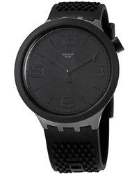 Swatch Bbblack Quartz Black Dial Mens Watch