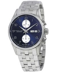 Hamilton Jazzmaster Maestro Chronograph Automatic Blue Dial Mens Watch