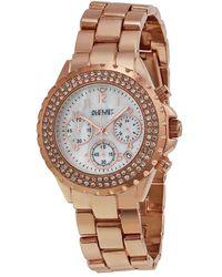 August Steiner Rose Gold-tone Ladies Watch - Pink
