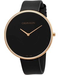 Calvin Klein Full Moon Quartz Black Dial Ladies Watch - Multicolour