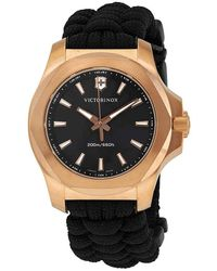 Victorinox I.n.o.x. V Quartz Black Dial Mens Watch - Multicolor