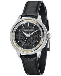 Thomas Earnshaw Lady Kew Automatic Black Dial Ladi Watch -8064-05 - Metallic