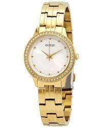 Guess Chelsea Silver Sunray Dial Quartz Ladies Watch - Metallic