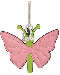 Loewe Pink/greem Butterfly Charm