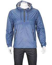 The Very Warm Mens Chrome Half Zip Pop Over - Blue
