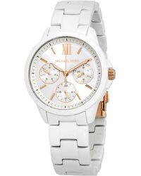 Michael Kors Bradshaw Chronograph Quartz Silver Dial Ladies Watch - Metallic