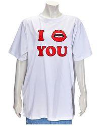 Yazbukey Ladies White I Love You Oversized Top, Brand