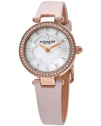 COACH Perry Mother Of Pearl Crystal Dial Ladies Watch - Multicolour