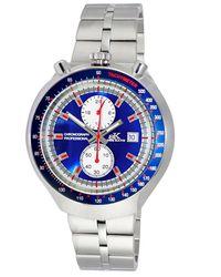 Adee Kaye Chronograph Quartz Blue Dial Watch -mbu