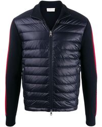 Moncler Paneled Padded Jacket - Blue