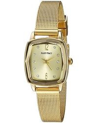 Ellen Tracy Quartz Crystal Gold Dial Watch - Metallic