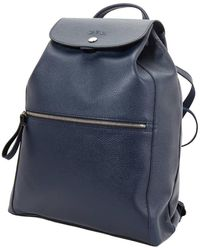 Longchamp - Ladies Le Foulonne Navy Leather Backpack - Lyst