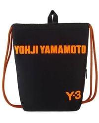 adidas Y-3 Drawstring Backpack In Black