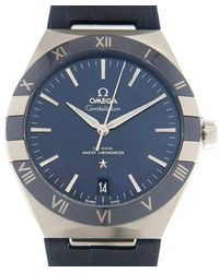 Omega Constellation Automatic Chronometer Blue Dial Mens Watch