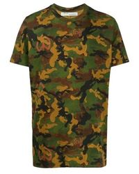 Off-White c/o Virgil Abloh Multicolor Camouflage T- Shirt, Brand - Green