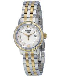 Tissot Bridgeport Mother Of Pearl Dial Ladies Watch - Metallic