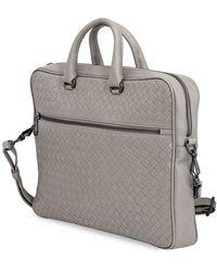 Bottega Veneta Mens Briefcase Briefcase Grey - Gray