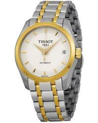 Tissot Couturier Automatic White Dial Ladies Watch - Metallic
