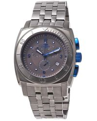 Oniss Gray Dial Gray Stainless Steel Chronograph Mens Watch -mt