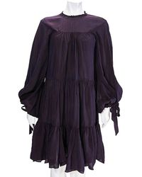 3.1 Phillip Lim Ladies Purple Short Gathered Dress, Brand
