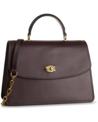 COACH Ladies Parker Top Handle 32 Bag In Oxblood - Multicolor
