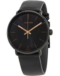 Calvin Klein Highno Quartz Black Dial Mens Watch