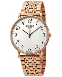 Tissot - Everytime Large Silver Dial Mens Watch - Lyst