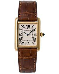 Cartier Pre-owned Tank Louis Quartz Mens Watch - Brown