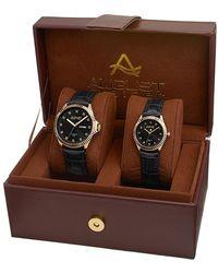August Steiner Quartz Black Dial Unisex Watch -s